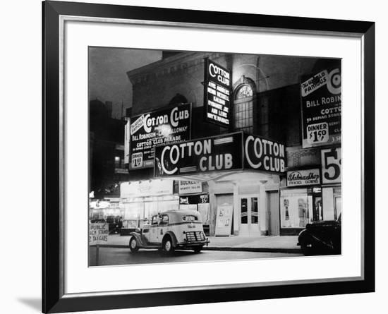 The Cotton Club in Harlem (New York) in 1938--Framed Photographic Print