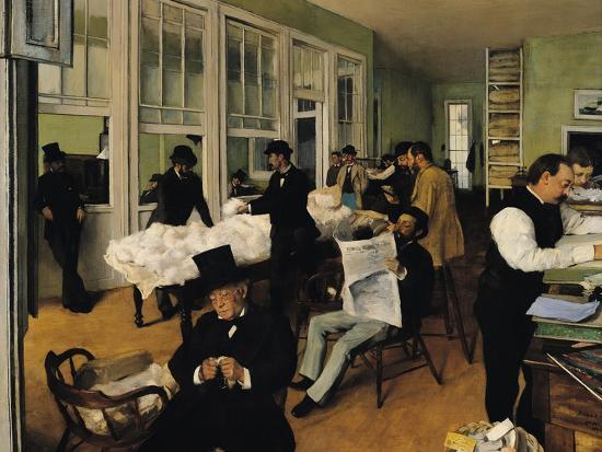 The Cotton Exchange, New Orleans, 1873-Edgar Degas-Giclee Print