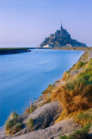 The Couesnon River Leading to the Island of Mont Saint-Michel, UNESCO World Heritage Site, Normandy-Garry Ridsdale-Photographic Print