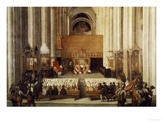 The Council Of Trent Giclee Print By Titian Tiziano