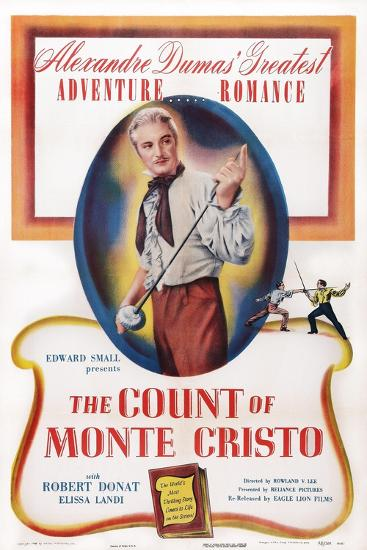 The Count of Monte Cristo, Robert Donat, 1934--Art Print