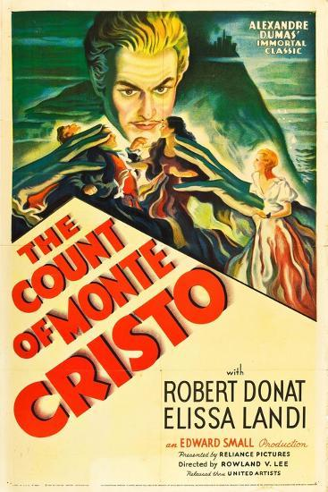 THE COUNT OF MONTE CRISTO, Robert Donat on US psoter art, 1934.--Art Print