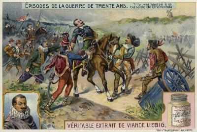 The Count of Tilly Is Wounded at the First Battle of Breitenfeld, Germany, 1631--Giclee Print