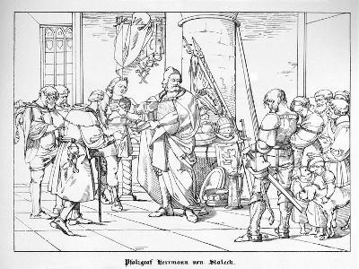 The Count Palatine Herrmann of Staleck-Alfred Rethel-Giclee Print