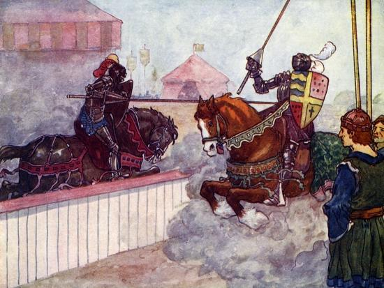 The Count Rode Again and Again at Edward Till His Lance Was Splintered in His Hand, C1270-AS Forrest-Giclee Print