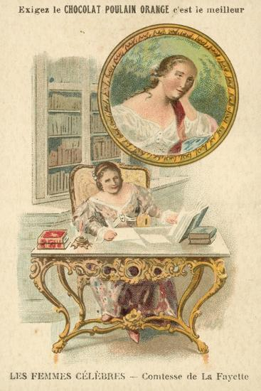 The Countess De La Fayette, French Author--Giclee Print