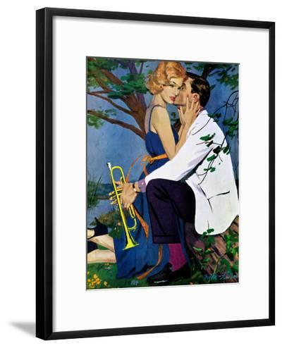 """The Country Treatment - Saturday Evening Post """"Leading Ladies"""", April 11, 1959 pg.29-Mike Ludlow-Framed Giclee Print"""