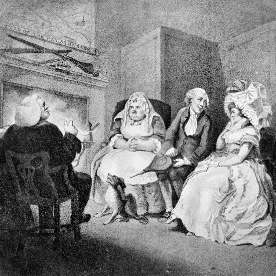 The Country Vicar's Fire Side, 1781-E Williams-Giclee Print