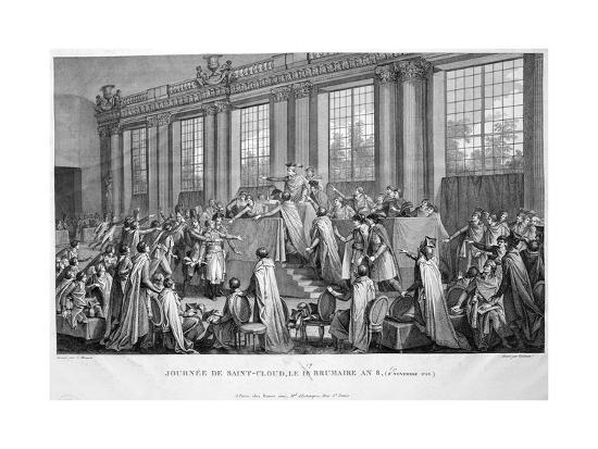 The Coup D'État of the 18th Brumaire (9th November), 1799, 19th Century--Giclee Print