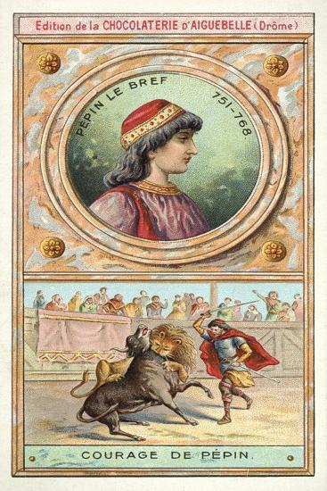 The Courage of Pepin the Short, 8th Century--Giclee Print