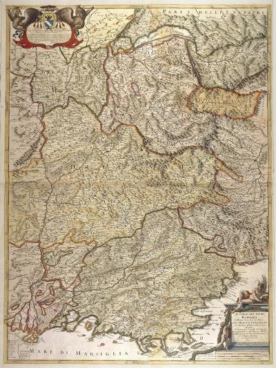 The Course of Rhone River from the Spring to the Sea--Giclee Print