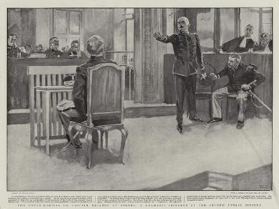 The Court-Martial on Captain Dreyfus at Rennes, a Dramatic Incident of the Second Public Sitting-Frank Craig-Giclee Print