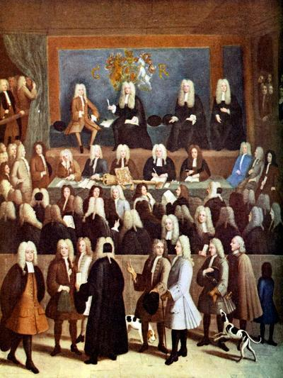 The Court of Chancery in the Reign of George I, 18th Century-Benjamin Ferrers-Giclee Print
