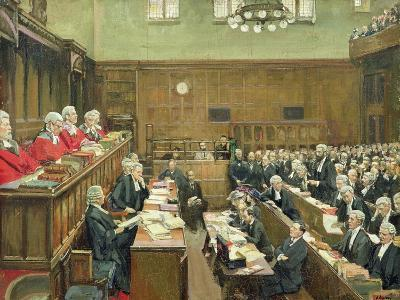 The Court of Criminal Appeal, London, 1916-Sir John Lavery-Giclee Print