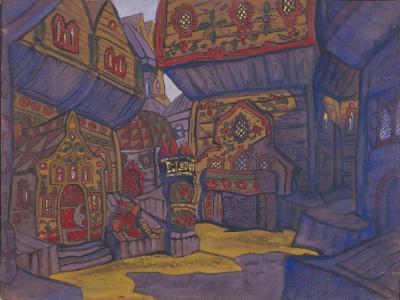The Court of Prince Vladimir Galitsky, Stage Design for the Opera Prince Igor by A. Borodin, 1914-Nicholas Roerich-Giclee Print
