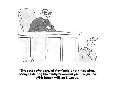 """The court of the city of New York is now in session.  Today featuring the?"" - Cartoon-Peter C. Vey-Premium Giclee Print"