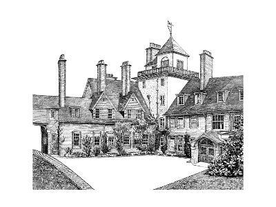 The Court Yard, Standen, East Grinstead, 1900--Giclee Print