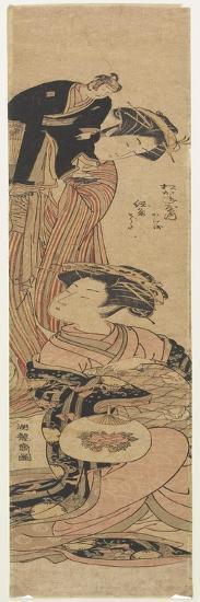 The Courtesan Sogiku of the Matsukaneya House-Isoda Koryusai-Giclee Print
