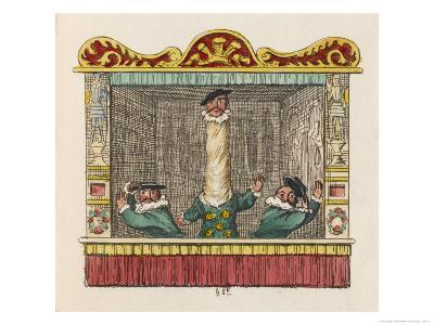 The Courtier with the Long Neck-George Cruikshank-Giclee Print