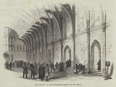 The Courts at Westminster, First Day of Term--Giclee Print