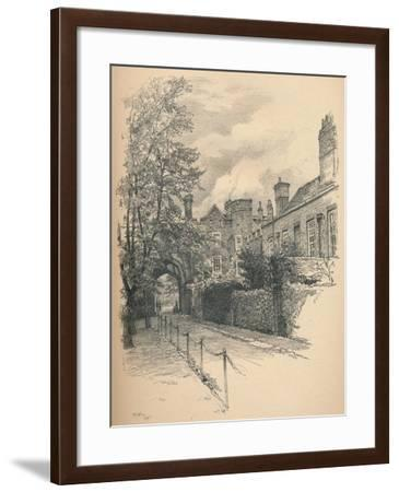The Courtyard and Gateway of Richmond Palace, 1902-Thomas Robert Way-Framed Giclee Print
