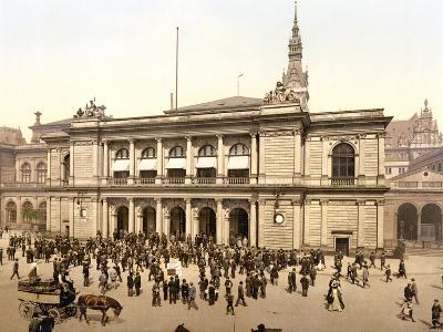 The Covered Market in Hamburg, C.1895--Photographic Print