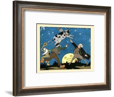 The Cow Jumps Over The Moon- Maud & Miska Petersham-Framed Art Print
