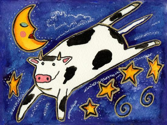 The Cow That Jumped over the Moon-Wyanne-Giclee Print