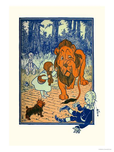 The Cowardly Lion-William W^ Denslow-Art Print