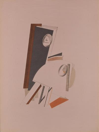 The Cowards. Figurine for the Opera Victory over the Sun by A. Kruchenych, 1920-1921-El Lissitzky-Giclee Print