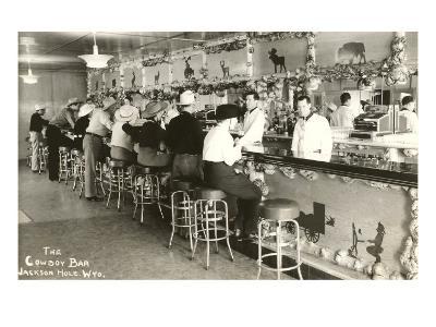 The Cowboy Bar, Jackson Hole, Wyoming--Art Print