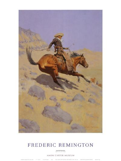 The Cowboy-Frederic Sackrider Remington-Art Print