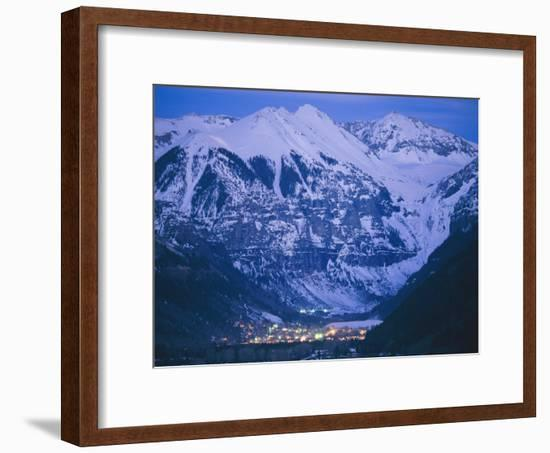 The Cozy Village of Telluride Nestles in a Valley Between High Peaks-Paul Chesley-Framed Photographic Print