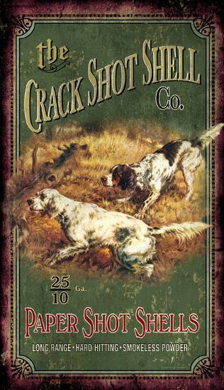 The Crack Shot Shell Co. Vintage Wood Sign--Wood Sign