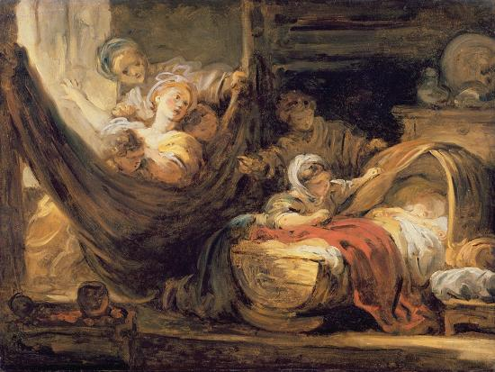The Cradle-Jean-Honor? Fragonard-Giclee Print