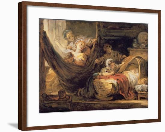 The Cradle-Jean-Honoré Fragonard-Framed Giclee Print