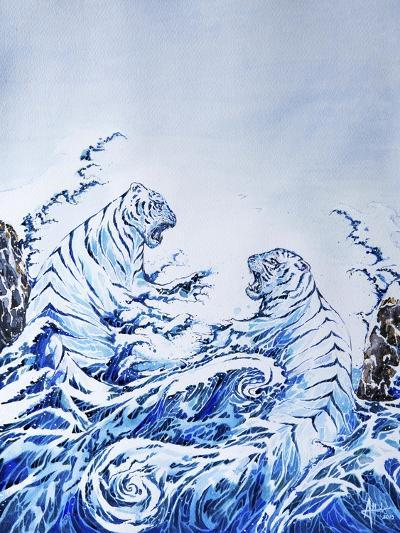 The Crashing Waves-Marc Allante-Giclee Print