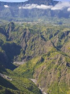 The Crater of Cilaos, La Reunion, Indian Ocean, Africa