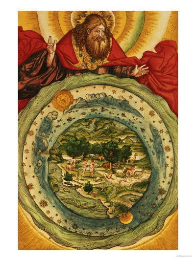 The Creation, from the Luther Bible, circa 1530--Giclee Print