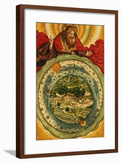 The Creation, from the Luther Bible, circa 1530--Framed Giclee Print
