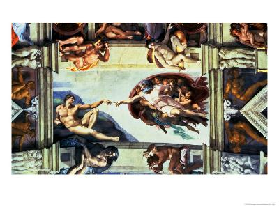 The Creation of Adam, c.1510-Michelangelo Buonarroti-Giclee Print