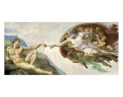 The Creation of Adam-Michelangelo-Art Print