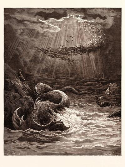 The Creation of Fish and Birds-Gustave Dore-Giclee Print