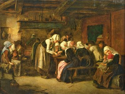 The Crepe Seller on Market Day in Quimperle-Jules Trayer-Giclee Print