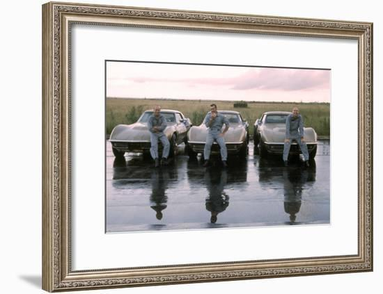 The Crew of Apollo 12 as They Sit on their Chevrolet Corvette Stingrays, September 23, 1969-Ralph Morse-Framed Premium Photographic Print