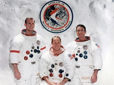 The Crew of the Apollo 15 Mission at the Manned Spacecraft Centre, Houston, Texas, 1971--Photographic Print