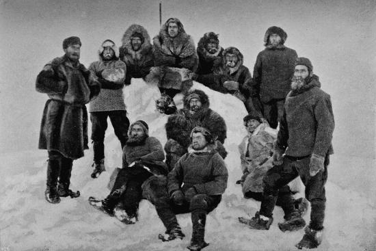 'The Crew of the Fram after their Second Winter. About 24 February, 1895', 1895 (1897)-Unknown-Photographic Print