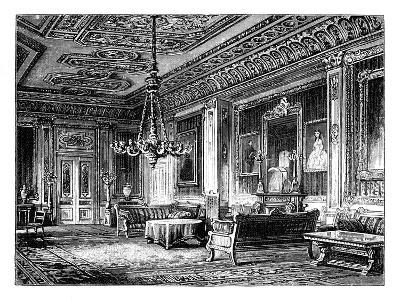 The Crimson Drawing-Room, Windsor Castle, C1888--Giclee Print
