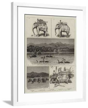 The Crisis in Burma, an Elephant Battery at Tongo, Eastern India--Framed Giclee Print