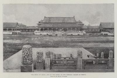 The Crisis in China, One of the Courts of the Imperial Palace at Peking-Joseph Holland Tringham-Giclee Print